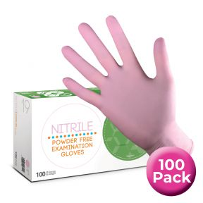 Pink Nitrile Gloves Extra Small